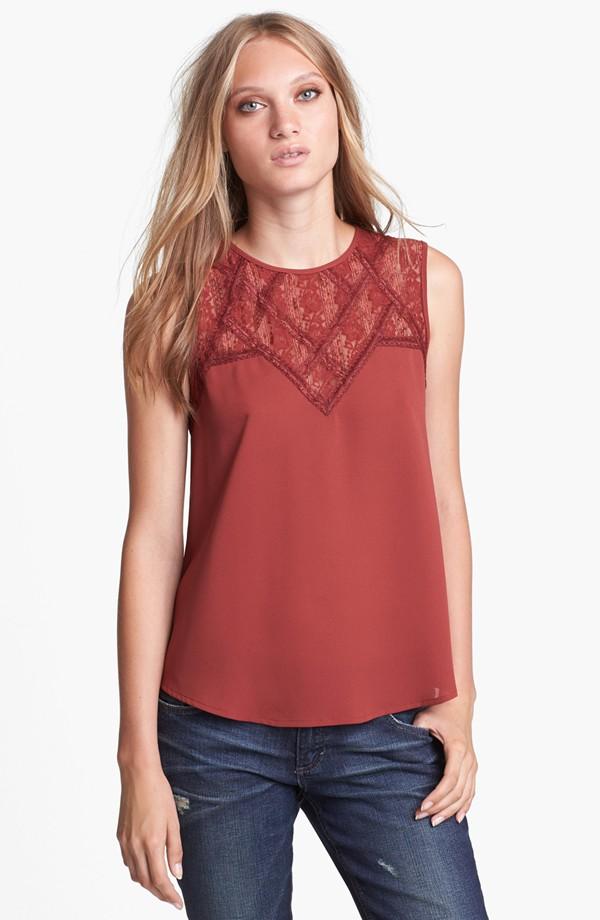 High fashion sleeveless rond neck tops