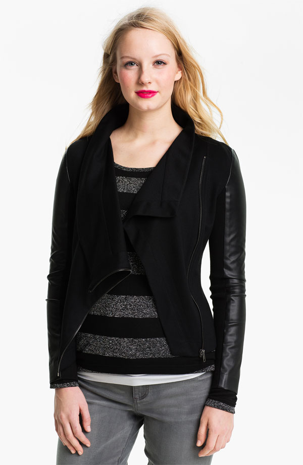 High fashion new design good quality lady black jacket 2015