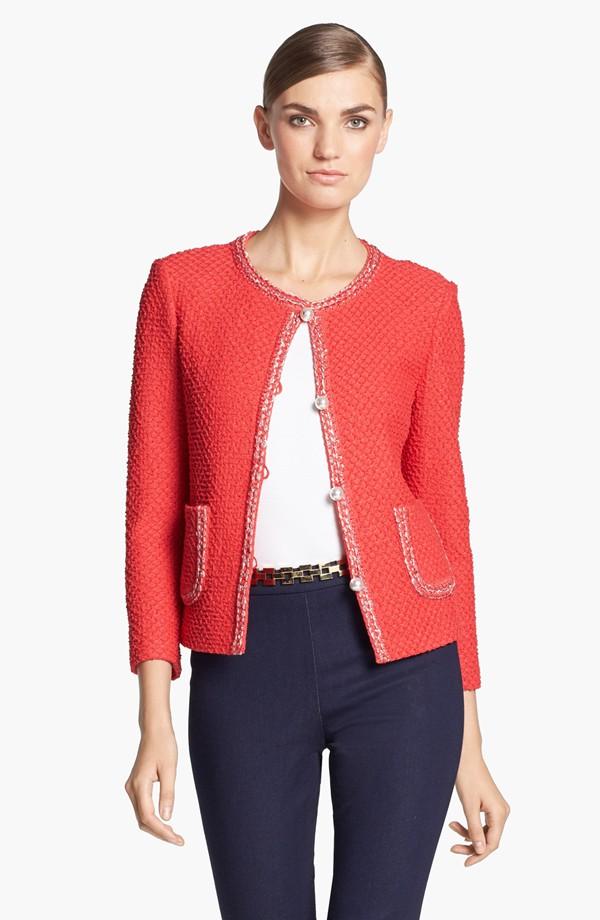 New fashion work wear red wool jacket for women