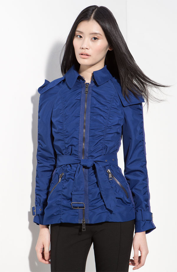 New fashion Style  blue with belt jacket for women
