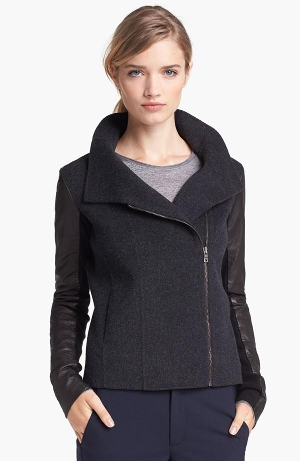 Bulk fashion black jacket for women