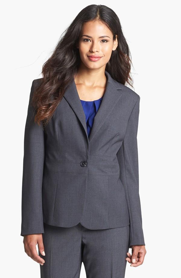 Work  lady wear autumn/winter solid color v-neck cuff for women blazer  jacket