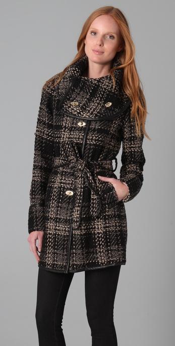 New design plaid fashion 2015 unique women winter coat