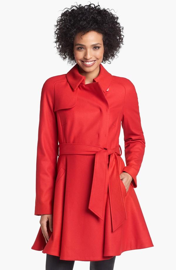 2015 long sleeves fashion office lady ployester long women winter dress coat