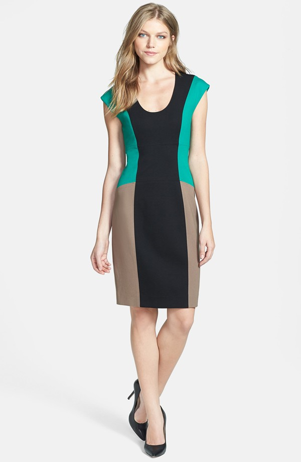 Ladies'fashion ployester silm combination dress